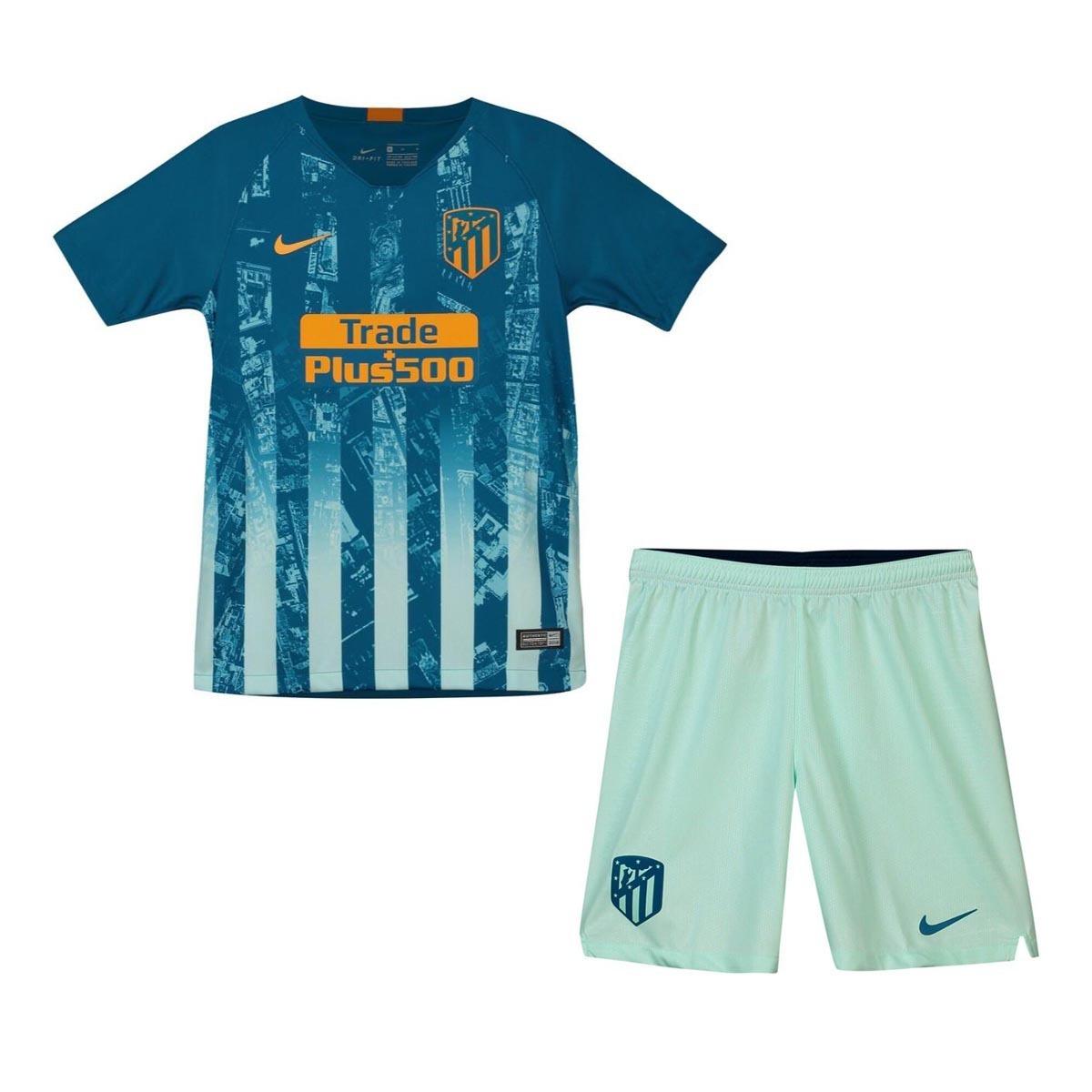 uniforme infantil camisa shorts futebol atletico madrid 2018. Carregando  zoom. 2c449dd2389d9