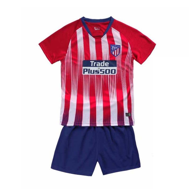e2210ff283b8c uniforme infantil camisa shorts futebol atletico madrid 2018. Carregando  zoom.