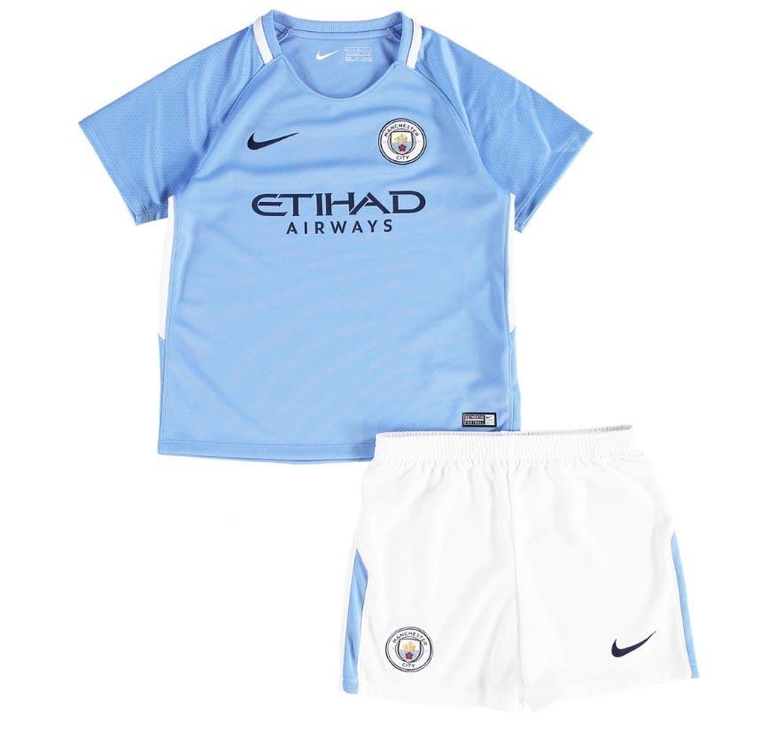 Uniforme Infantil Camisa Shorts Futebol Manchester City 2017 - R ... 7aef2ce11018e