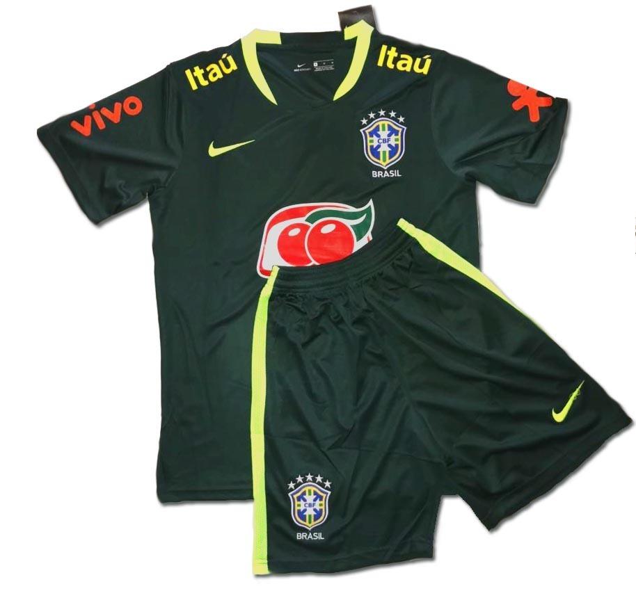 uniforme infantil camisa shorts treino seleção brasil 2018. Carregando zoom. 25e9b3f994329