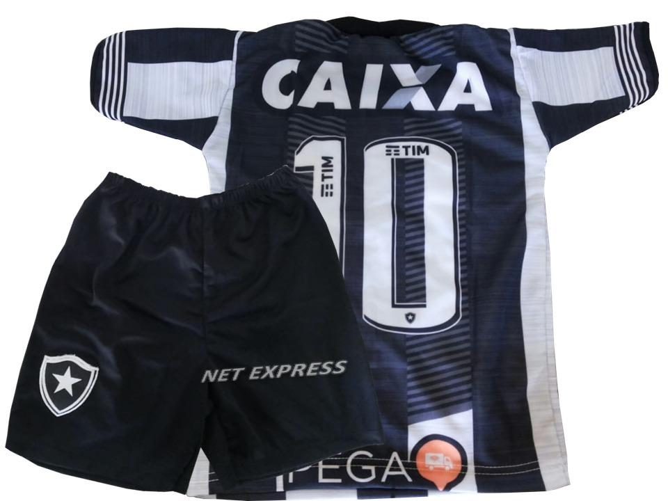 df5209156c0a2 Uniforme Infantil Do Botafogo Infantil Camisa+shorts Futebol - R  32 ...