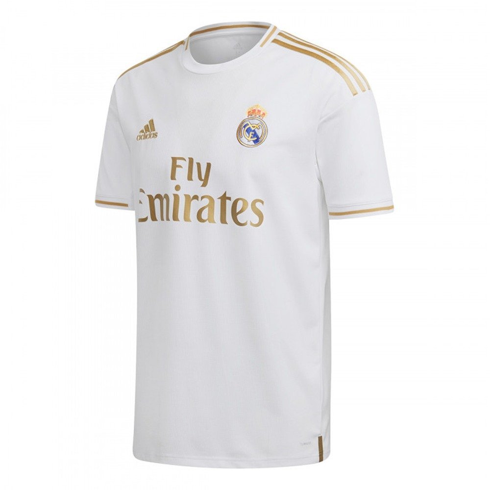 bc80589bbd uniforme infantil do real madrid branco masculino - oficial. Carregando  zoom.