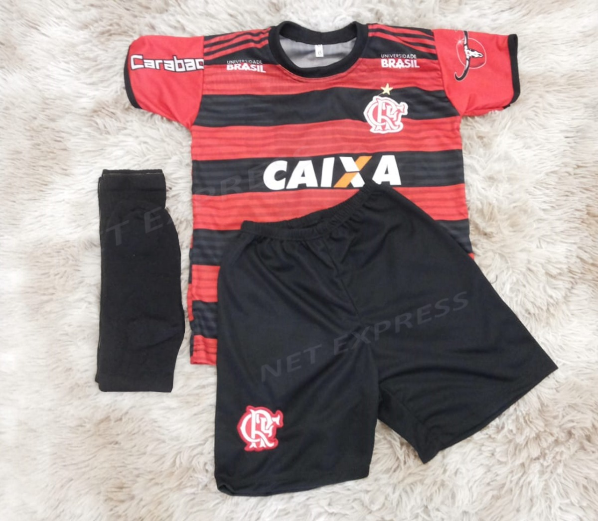 uniforme infantil flamengo camisa kit mais meião mod. 2018. Carregando zoom. 0126418883d00