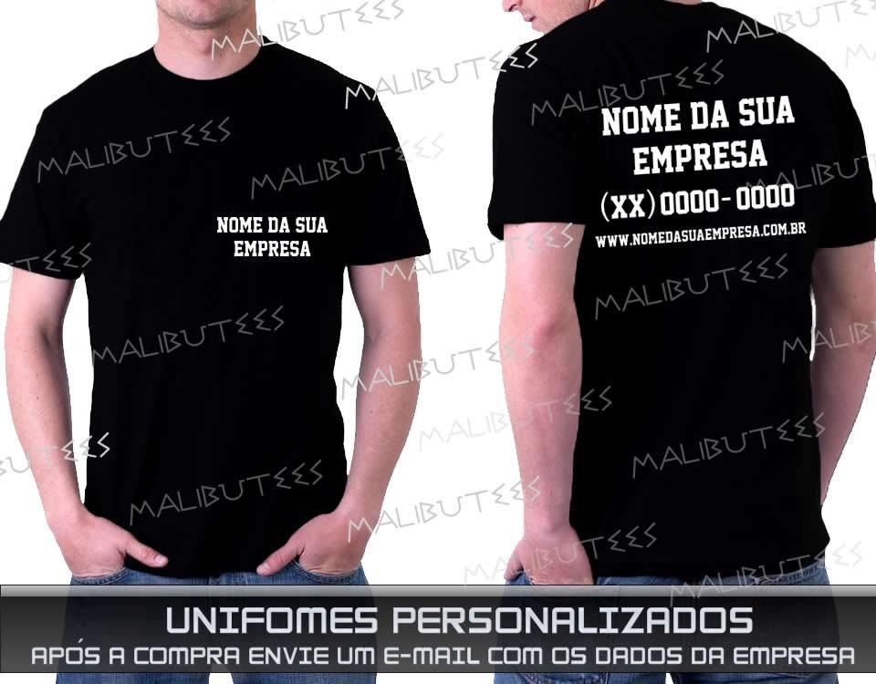6856dc27fd uniforme kit 10 camisetas para sua empresa frente e verso. Carregando zoom.