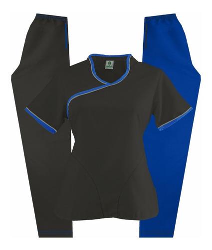 uniforme medico dynasty cd01 piedra (azul o fucsia limaf)