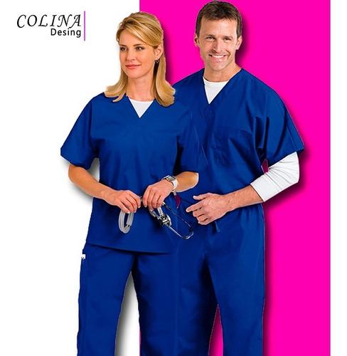 uniforme medico, enfermeria, unisex en piel de durazno