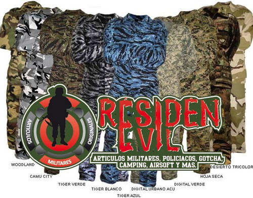 uniforme militar p/ gotcha airsoft cacería camping excursión