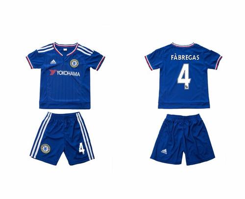 uniforme niño chelsea 2015 falcao, fabregas o personalizada