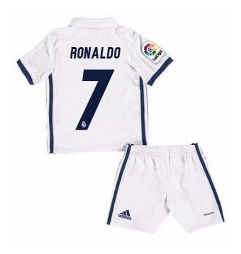 uniforme niño real madrid 2017 james ronaldo o personalizado
