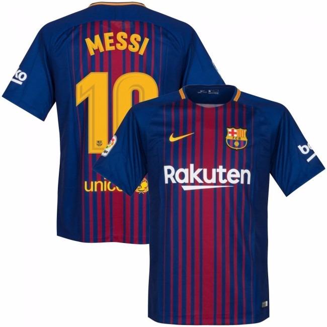 Uniforme Oficial Barcelona Niño 2017 - 2018 Messi No.10 -   125.000 ... b1db719a24b