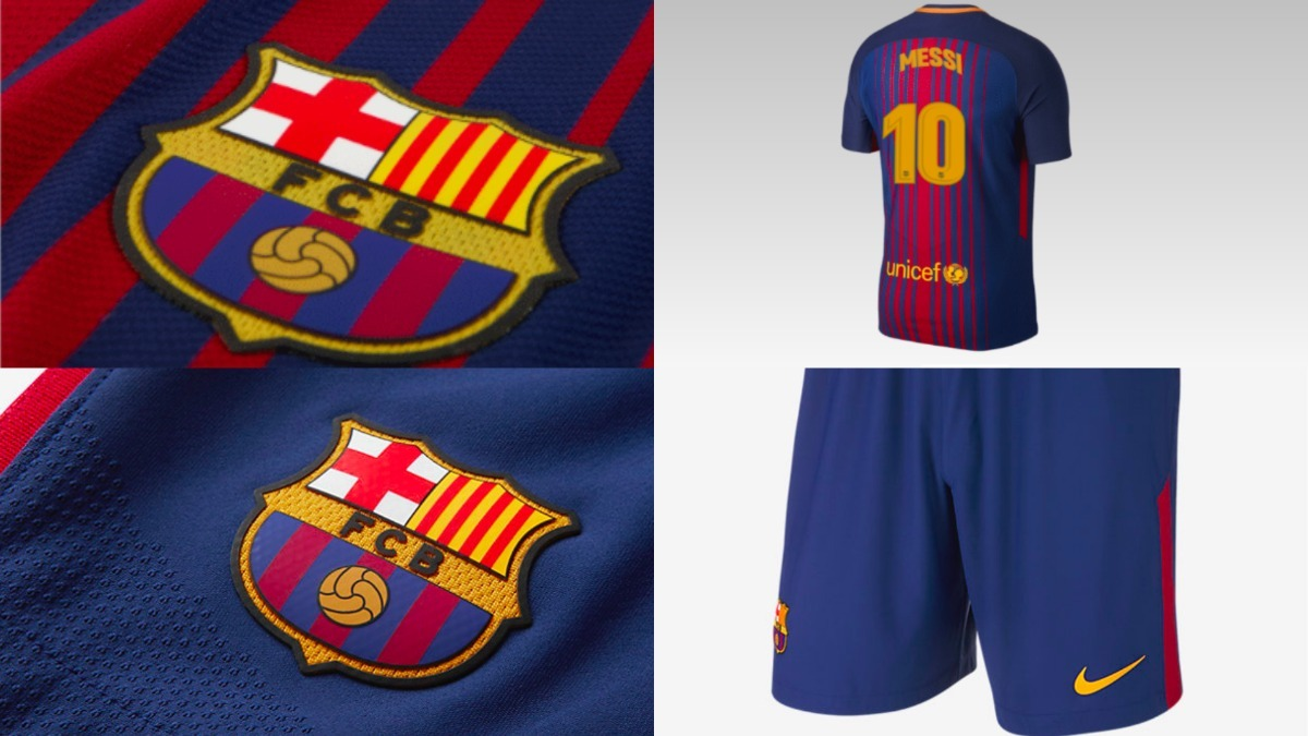 97dad492a3 Uniforme Oficial Barcelona Niño 2017 - 2018 Messi No.10 -   125.000 ...
