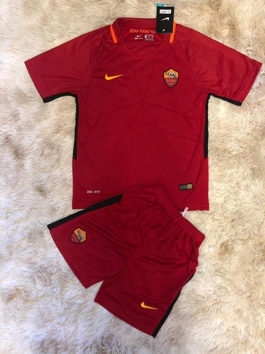 67486733a877d Uniforme Oficial Infantil Roma 2017 Promoção Especial Compre - R ...