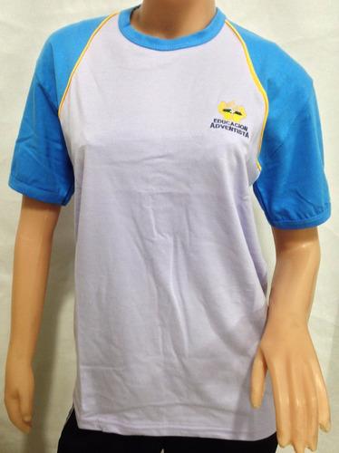 uniforme oficial instituto adventista remera deporte niños