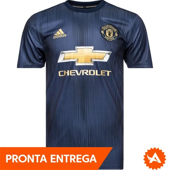 Uniforme Oficial Manchester United Adidas Third 2018 2019 R 169 f95fcad5cca21
