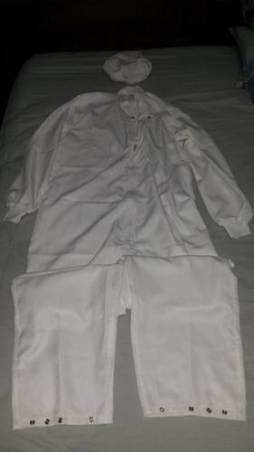 uniforme para laboratorio, talla s/p. color blanco - &30