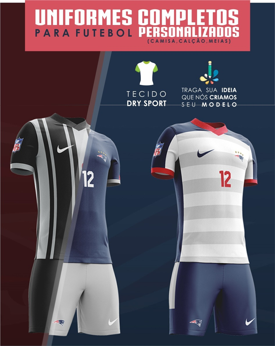 uniforme personalizado futebol - super oferta - kit 10 conj. Carregando  zoom. 4ca36544507db