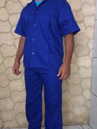 uniforme profissional (jalecos) azul ou cinza