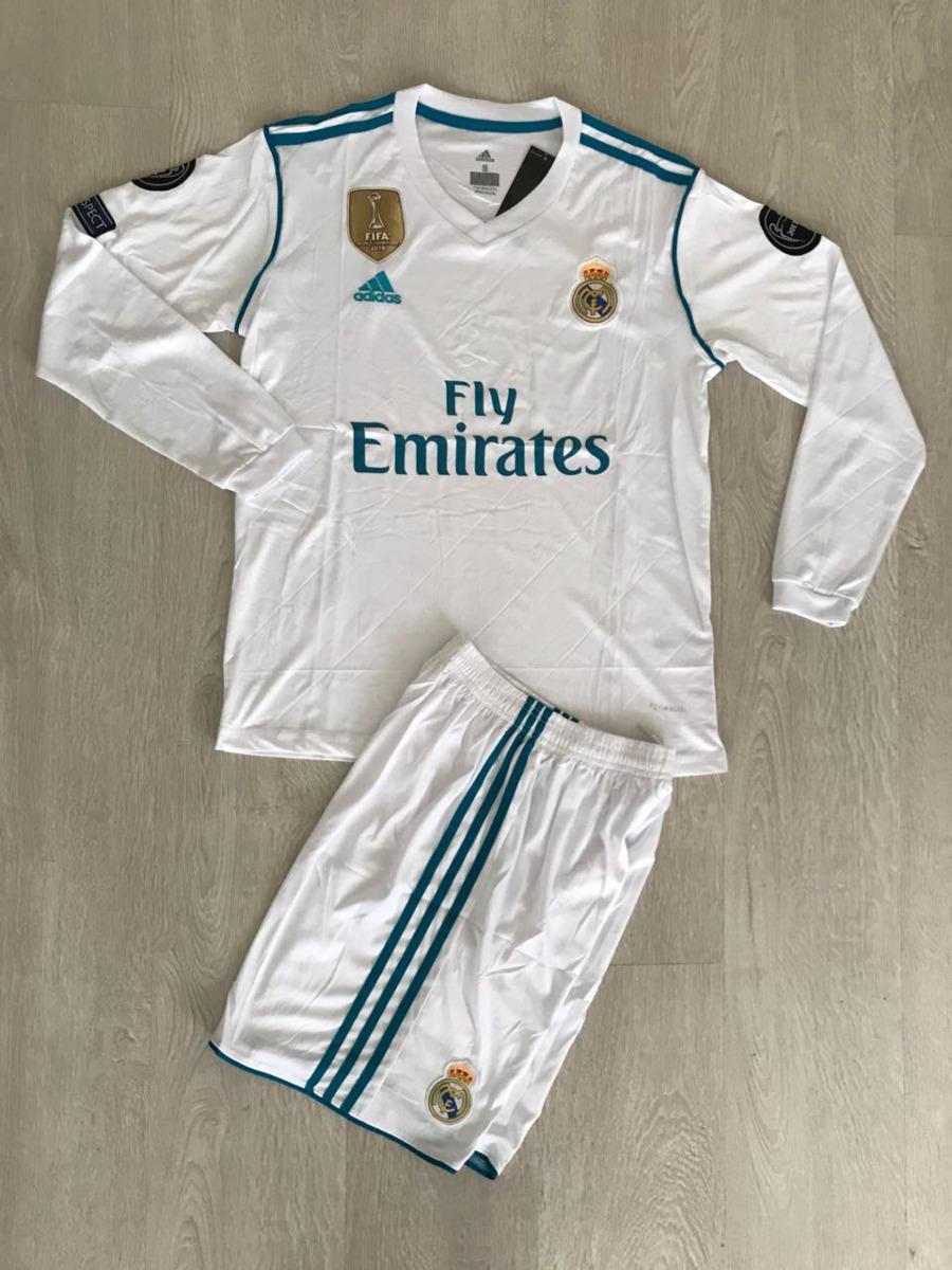 8d39e4b7d44eb Uniforme Real Madrid Manga Larga -   45.000 en Mercado Libre