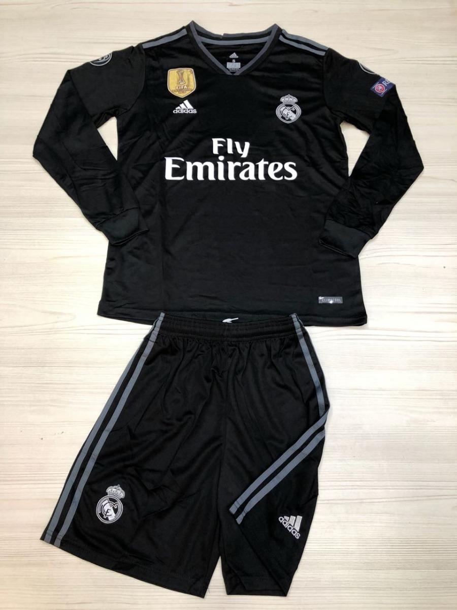 b02ee54f3131d Uniforme Real Madrid Visita 2018 - 2019 Manga Larga -   120.000 en ...