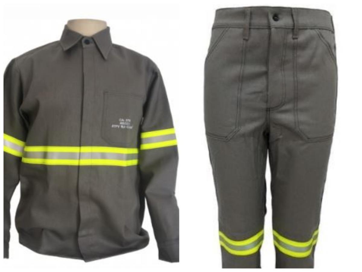 291fe9a7db uniforme retardante a chamas- nr-10 c/ faixa refletiva. Carregando zoom.