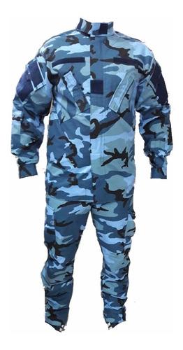 uniforme tactico camuflado azul translado detenidos