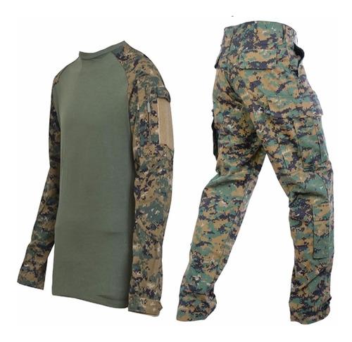uniforme tactico marpat combat shirt y pantalon rip stop