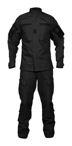 uniforme tactico ripstop negro policial corte americano acu