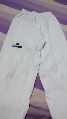 uniforme taekwondo niño + protector espinillera