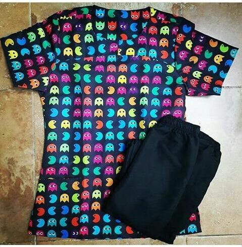 uniformes antifluido estampados dama