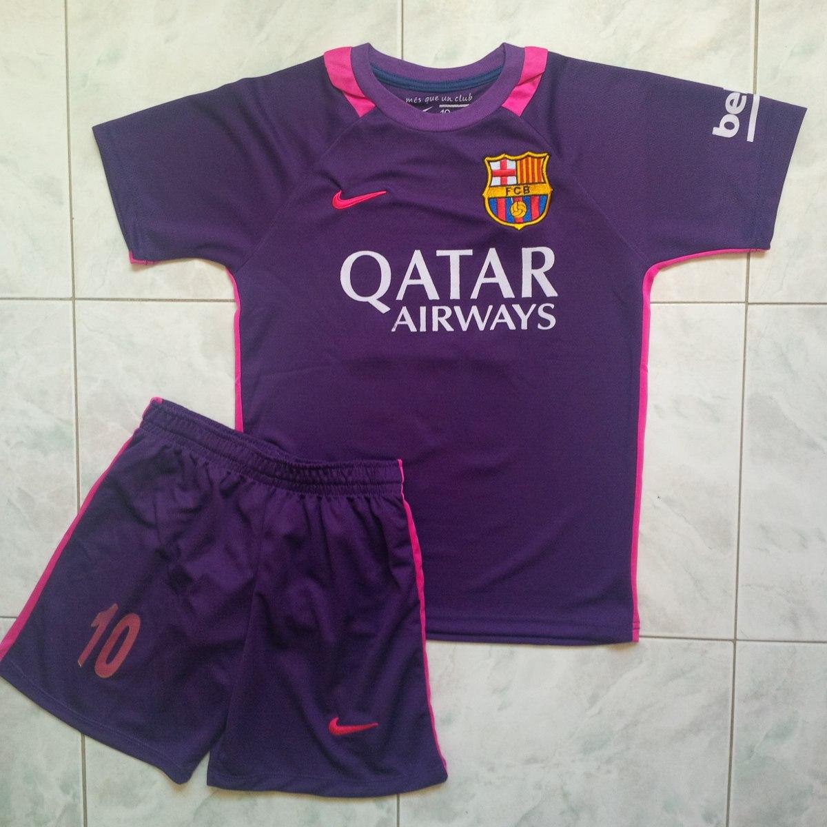 da2f79d714c75 uniformes barcelona purpura 2017 niños messi suarez neymar. Cargando zoom.