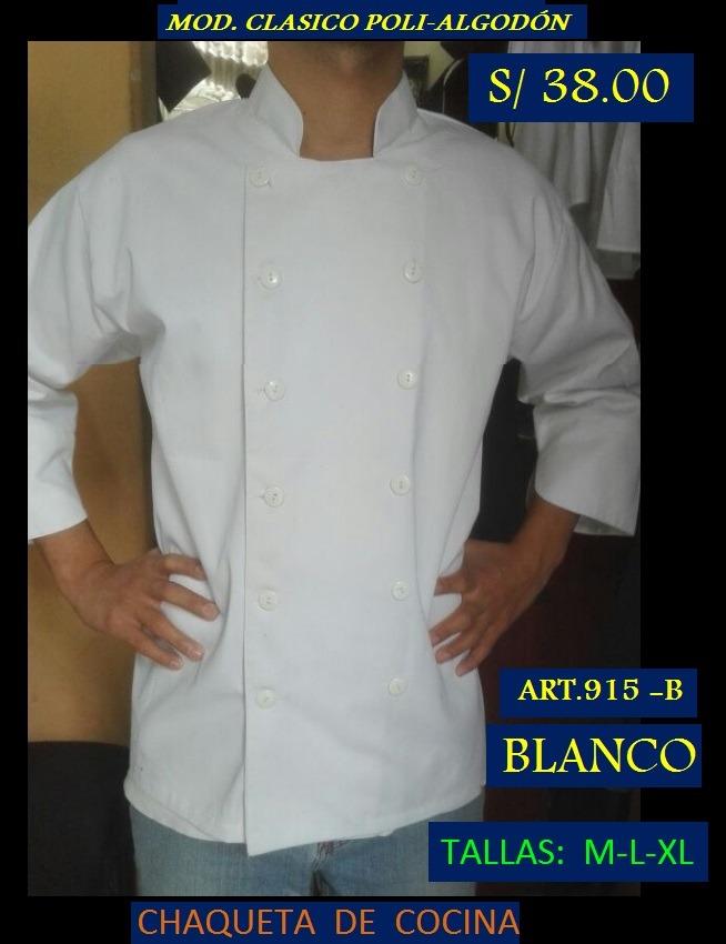 Uniformes De Cocina (económicos) - S  38 ef4b0250603a1