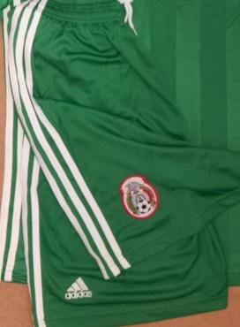 1d00244d463ef Uniformes De Fútbol Short México Verde -   140.00 en Mercado Libre