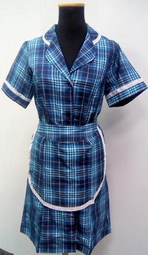uniformes de mucama tela escocesa