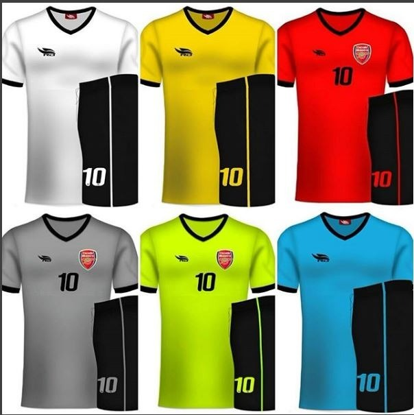 Uniformes Deportivos Futbol. Colores Combinados. Diseños Rd - Bs ...