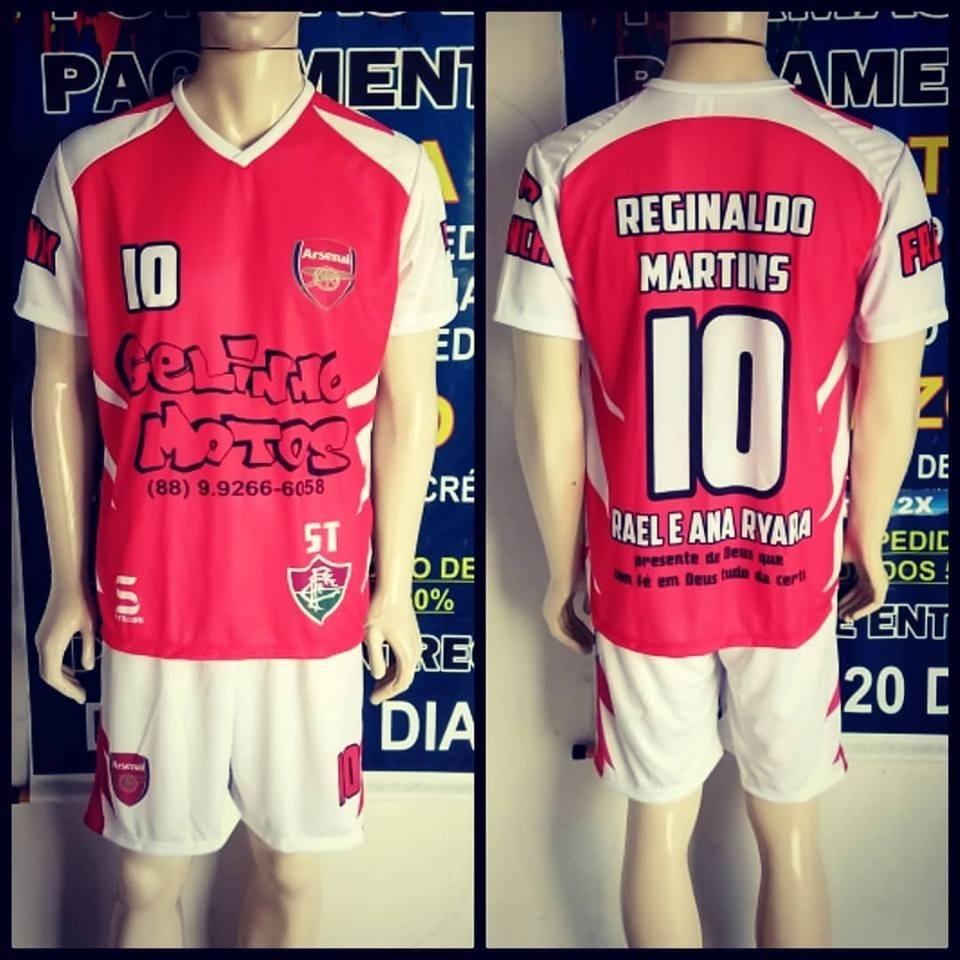 uniformes esportivo futebol short e camisa personalizados 20. Carregando  zoom. 9848d870d93bf