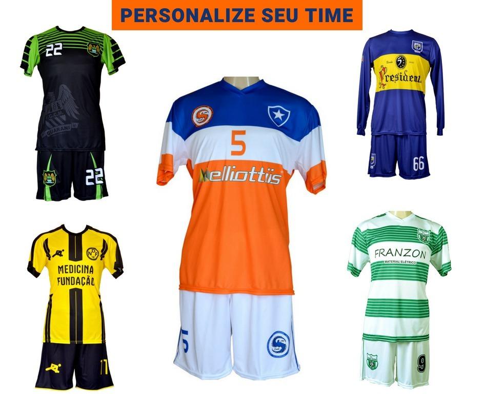 3cab27af6119a Uniformes Futsal Futebol Salão Personalizado 7 Conjuntos Dry - R ...