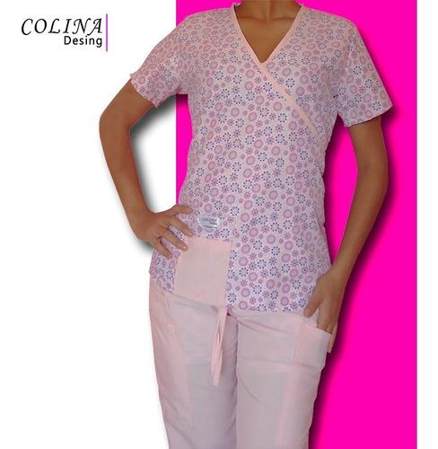 uniformes médicos estampada, modelo avila.