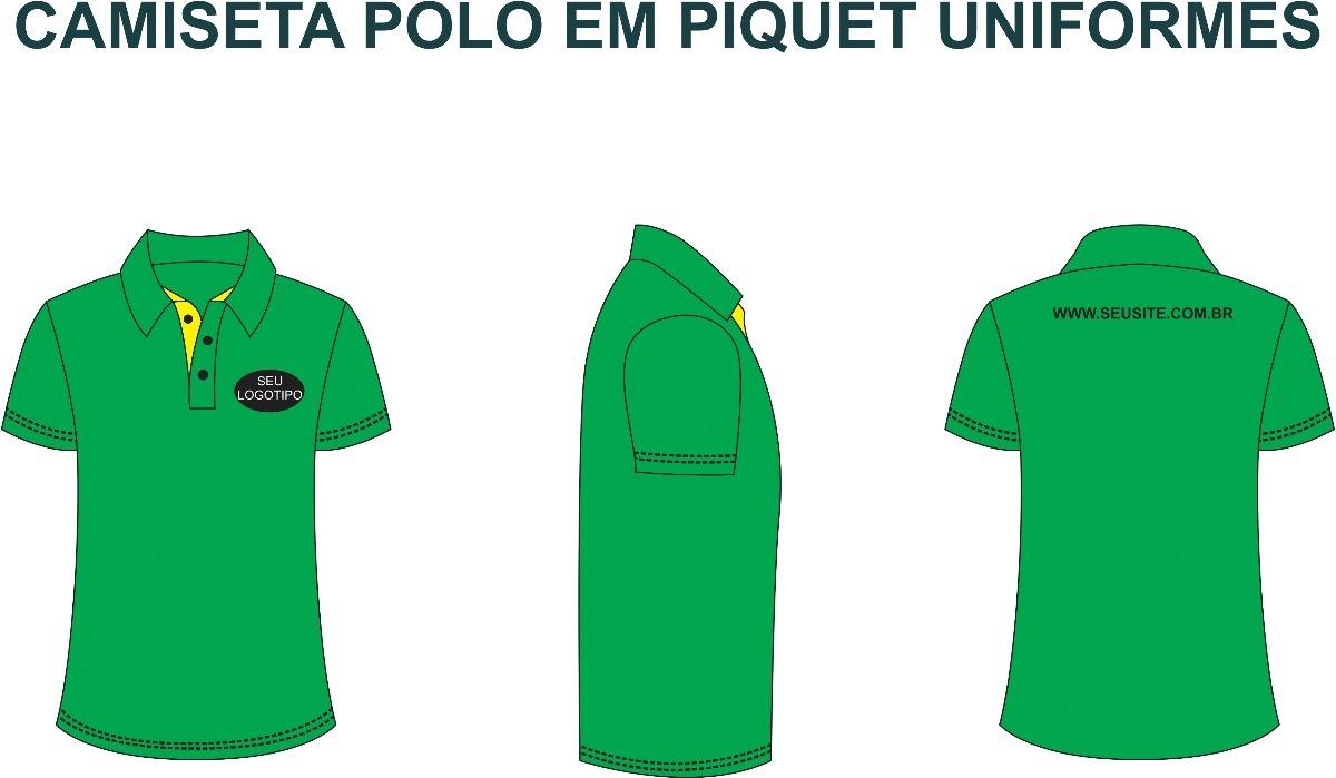 b67cc1ea72 uniformes para empresas gola polo piquet kit 30 peças. Carregando zoom.