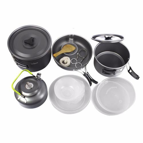 Unigear utensilios cocina para campamento aluminio 17 en 1 for Utensilios alta cocina