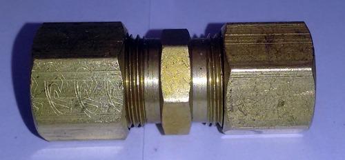 união latão emenda tubo cobre tecalon ar comprimido 13 mm
