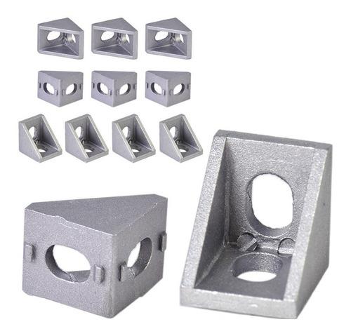 unión angulo l exterior perfil de aluminio 2020 ó 2040