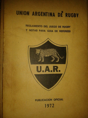 union argentina de rugby reglamento 1972