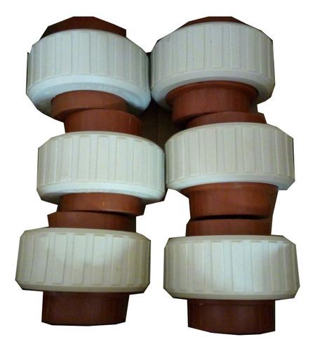 unión doble h3 agua caliente 1´ termofusión x mayor 50u