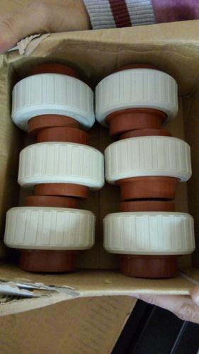 unión doble h3 termofusión 1´ agua potable x mayor pack x100
