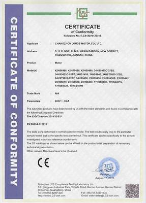 unión europea/estados unidos nave 4axis nema23 motor paso a