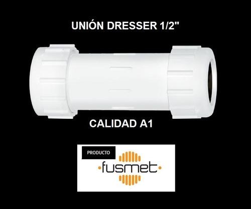 union junta dresser 1/2  pulgadas plastico pvc