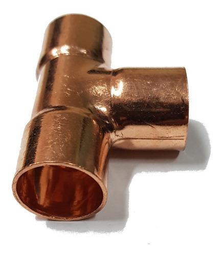 unión tee de cobre 3/8 para soldar refrigeración aire acond.