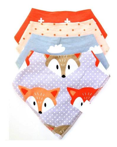 unisex baby bandana drool baberos con snaps-2cara diseño