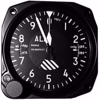 united instruments 5934pa-3 altimeter 35k inches tso'd
