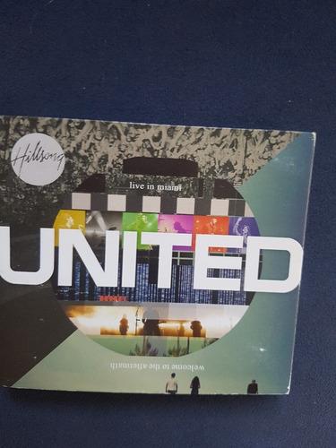 united  - live in miami - cd duplo + dvd - original